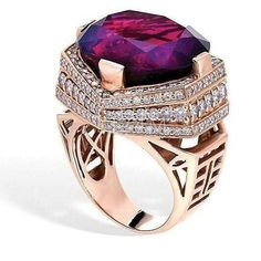A stunning deep red spinel ring by Zorab Atelier de Creation-USA