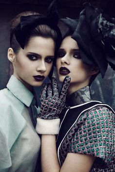 Anna and Sonya Kupriienko by Lina Tesch for Ballad Of Magazine Sisters Issue