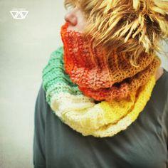 fadufana  / diEnes / / crochet handmade diy colorful cowl/ shawl