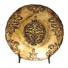 CC Home Furnishings 22\  Old World Ornamental Decorative Plate with Fleur-de-Lis Stand Decorative Plates \u0026 Bowls | Home Accessories | Pinterest | Bowls ...  sc 1 st  Pinterest & CC Home Furnishings 22\