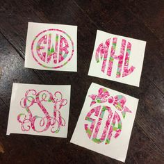 Custom Lilly Pulitzer Monogram Decal Sticker