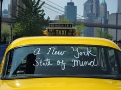New York State of Mind - yellow cab, definitely! History of the yellow cab.