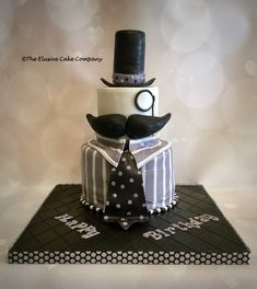 Mustache cake Inspiration from Miscody on Cake Central