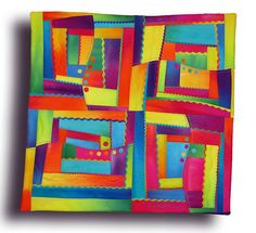 logcab by Melody Johnson Quilts, via Flickr