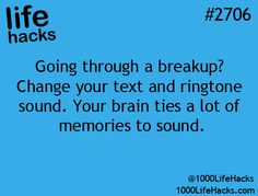 Time to change your ringtone and text tone. This is absolutely true. Everyone associates music with past and present memories. Psychology 101. ♥ ♥ ✿ Ophelia Ryan✿♥