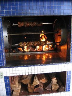 Wood-fired rotisserie chicken - Picture of Chicken! Chicken ...