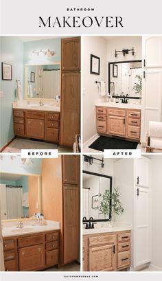 Diy Bathroom Remodel, Bathroom Renos, Bathroom Renovations, Home Remodeling, White Bathroom, Master Bathroom, Small Bathroom, Ikea Bathroom, Home Renovations