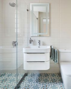 When designing a bathroom, finding the right balance between your need for plumbing, storage, mirrors, lighting and other fixtures with your desire for space can be quite the challenge. If space is limited, configuring all the essential pieces to fit cohesively might feel like you're putting together a giant puzzle.  Visit the blog for 5 design tips that will visually expand your small bathroom! Small, Storage, Small Bathroom, Space Planning, Bathroom Oasis, Plumbing, Spacious, Design Inspiration, Bathroom