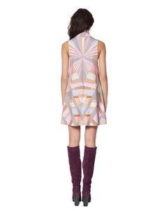 Mara Hoffman Prism Turtleneck Swing Dress in Lavender