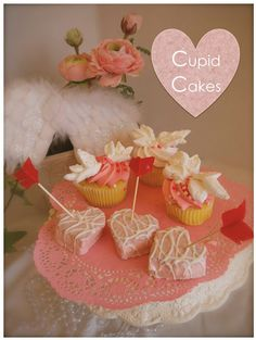 cupid cupcakes / easy DIY