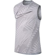 Nike Men's Breathe Printed Running Tank Top ($50) ❤ liked on Polyvore featuring men's fashion, men's clothing, men's shirts, men's tank tops, white, mens white tank tops, mens white mesh shirt, mens tank tops, mens mesh tank top and mens mesh shirt
