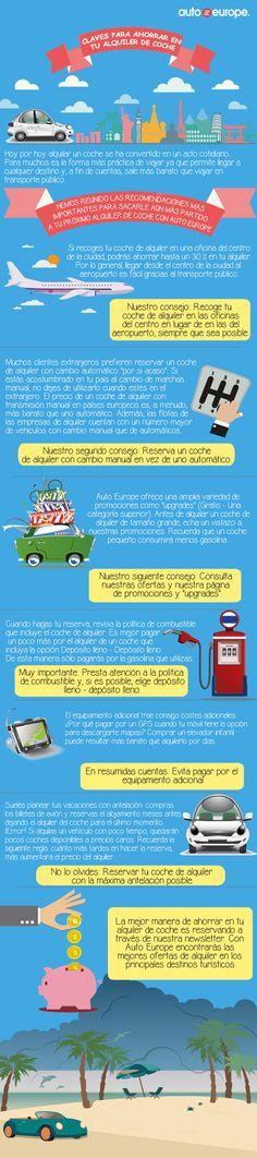 Infografía: Claves para ahorrar en tu próximo alquiler de coche con Auto Europe - Consulte nuestras infografías aquí: http://www.autoeurope.es/go/infografias/