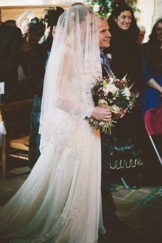 Lace and chiffon wedding dress by Wilden Bride London www.wildenbridelondon.com