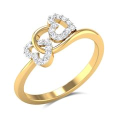 Barrie Diamond Studded Gold Ring