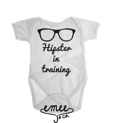 Hipster in Training baby girl clothes baby boy clothes hipster baby clothes