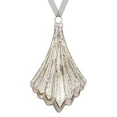 Buy John Lewis Boutique Glass Mercurised Fan Bauble, Champagne Online at johnlewis.com