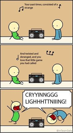 I'm just happy that someone dedicated a whole cartoon to how they sing the lyrics of Crying Lightning by Arctic Monkeys