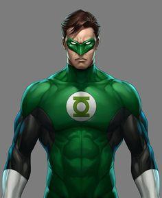 Hal Jordan_The Green Lantern Batman Green Lantern, Green Lantern Hal Jordan, Green Lantern Corps, Green Lanterns, Arte Dc Comics, Dc Comics Art, Comic Book Heroes, Marvel Heroes, Comic Books