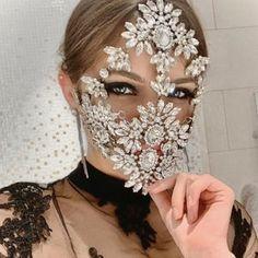 Face Jewellery, Body Jewelry, Diy Mask, Diy Face Mask, Tribal Face, Rave Mask, Full Face Mask, Face Face, Shoulder Necklace