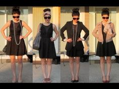 ▶ 10 Ways to Style The Little Black Dress - YouTube*