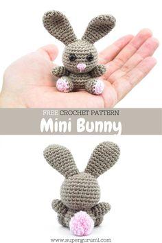 Easter Crochet Patterns, Crochet Bunny Pattern, Crochet Patterns Amigurumi, Cute Crochet, Crochet Dolls, Crochet Summer, Crochet Keychain, Crochet Bookmarks, Crochet Gifts