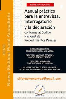 LIBROS EN DERECHO: MANUAL PRÁCTICO PARA LA ENTREVISTA INTERROGATORIO ...