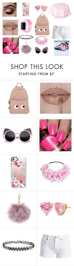 """Woke  Up Like This"" by ursulachenui on Polyvore featuring Anya Hindmarch, Casetify, Charlotte Russe, Betsey Johnson, Miss Selfridge and Barbour International"