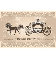 Royal carriage on VectorStock