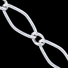 Silver waist chain, RMA 11 100 Silver waist chain, Ag 925/1000 - sterling silver. 1+1 design, round wire. Dimensions approx. 7x3mm. RMA 11 100.