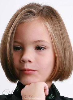 Little Girls Hairstyles : Best Little Girl Bob Hairstyles Side Parted For Short Straight Hair In Light Mahogany Color Popular 13 Little Girl… Little Girl Short Haircuts, Kids Girl Haircuts, Cute Hairstyles For Short Hair, Little Girl Hairstyles, Hairstyles Haircuts, Bob Haircuts, Trendy Hairstyles, Ponytail Hairstyles, Kids Hairstyle