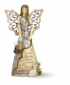 Elements Gardening Angel Figurine by Pavilion, 7-1/2-Inch, Inscription to Plant a Garden is to Believe In Tomorrow Elements,http://www.amazon.com/dp/B004S2Y1TM/ref=cm_sw_r_pi_dp_D2Kjtb19X1D1HZQK