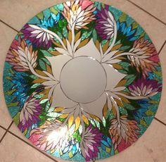 RESERVED FOR HEATHER Garden Handmade Mosaic by SolSisterDesign