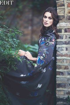 embroidered #valentino cape :: Keira Knightley for Net-A-Porter's The Edit