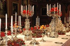 Windsor Castle , Queen Victoria's dazzling dinner service  ca. 1862