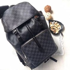 0c5822ec92d3 Louis Vuitton lv shoulders bag Damier graphite backpack Travel Items
