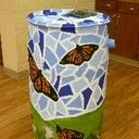 Rain Barrel - Not painted - Color Blue - Water Conservation