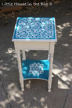 Stencils and Sandpaper... the side table experiment
