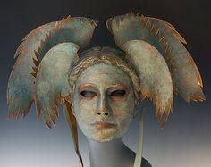 Aegean Goddess by The Art Of The Mask on Etsy Mascaras Halloween, Diy Masque, Carnival Masks, Venetian Masks, Character Inspiration, Illustration, Fantasy Art, Sculpting, Lion Sculpture