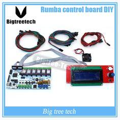 BIQU Rumba control board DIY+cooler fan +LCD 2004 controller display +jumper wire +DRV8825 Stepper driver for reprap 3D printer #Affiliate