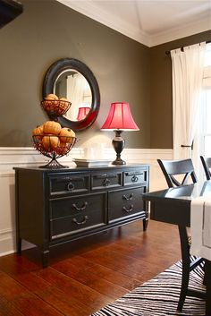 32 ways to build character in your home. Want bottom molding wall design in dinning room in house Sweet Home, Diy Casa, Home And Deco, My New Room, Style At Home, Home Fashion, Diy Furniture, Black Furniture, Furniture Makeover