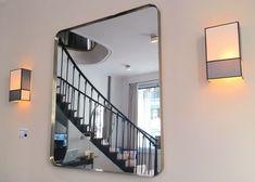 sarah lavoine rue du bac grand miroir carré laiton décoration d'intérieur luminaire applique rectangulaire