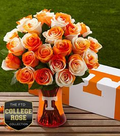 The FTD University of Tennessee Vols Rose Bouquet ol rocky top Tennessee Volunteers Football, Tennessee Football, Tennessee Knoxville, Tennessee Titans, Pittsburgh Steelers, Vol Nation, Tennessee Girls, Visit Tennessee, Orange Country
