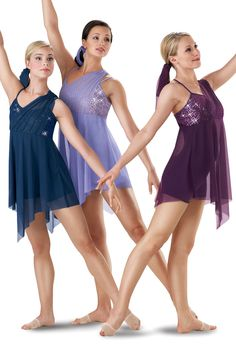 Sequin Mesh Lyrical Dress; Weissman Costumes (5207) Eggplant in stock