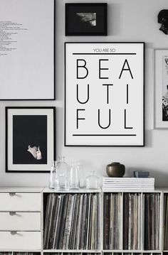 Printable Art Your Are So Beautiful Scandinavian by CHICxBOUTIQ