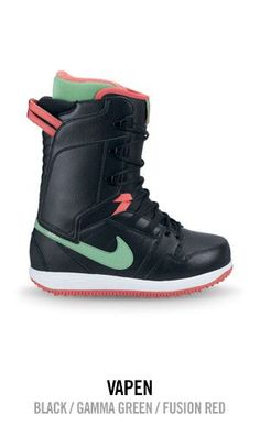 Nike Vapen - Black / Gamma Green / Fusion Red  Want these for next season #getlacedup