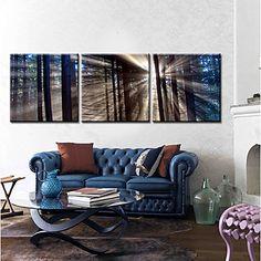 Stretched Canvas Art Landscape Soft Light Set of 3 – USD $ 69.99