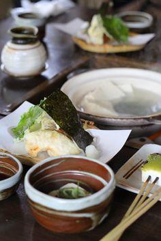 Yudofu 湯豆腐 - Boiled Tofu, Okutan Kiyomizu Kyoto