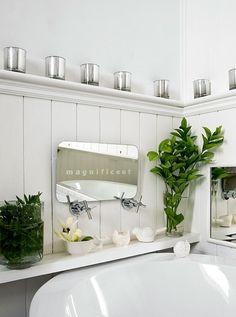 shelf for extra storage or decor