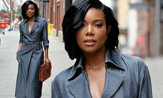 Braless Gabrielle Union attends Wes Gordon show at NYFW | Daily Mail Online