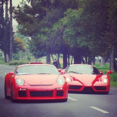 Porsche and Ferrari Love